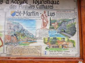 Photo: Explications sur les origines de St Martin-Lys