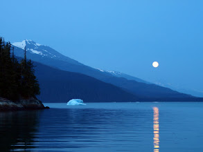 Photo: Moonrise in Tracy Arm