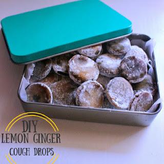 DIY Lemon Ginger Cough Drops