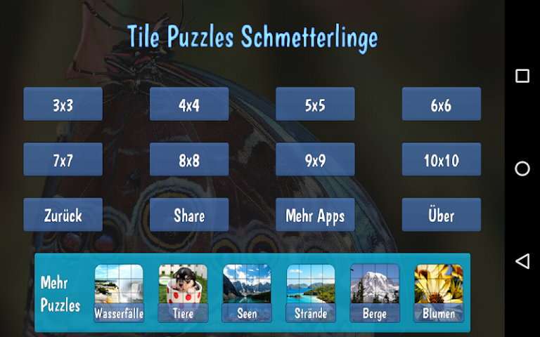 android Tile Puzzles · Butterflies Screenshot 7