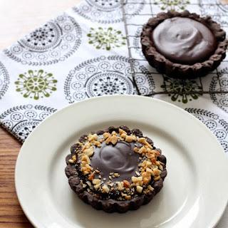 Mini Peanut Butter Caramel & Ganache Tarts