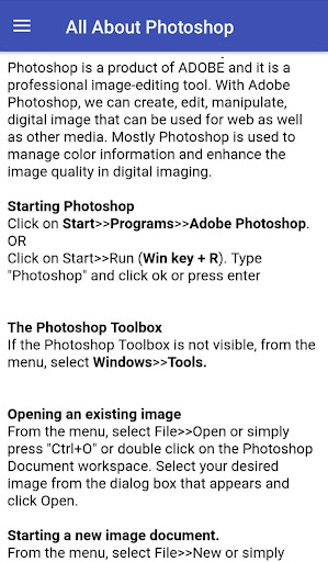 All About Photoshop    Offline  Photoshop Tutorial 4.2.3 androidtablet.us 1