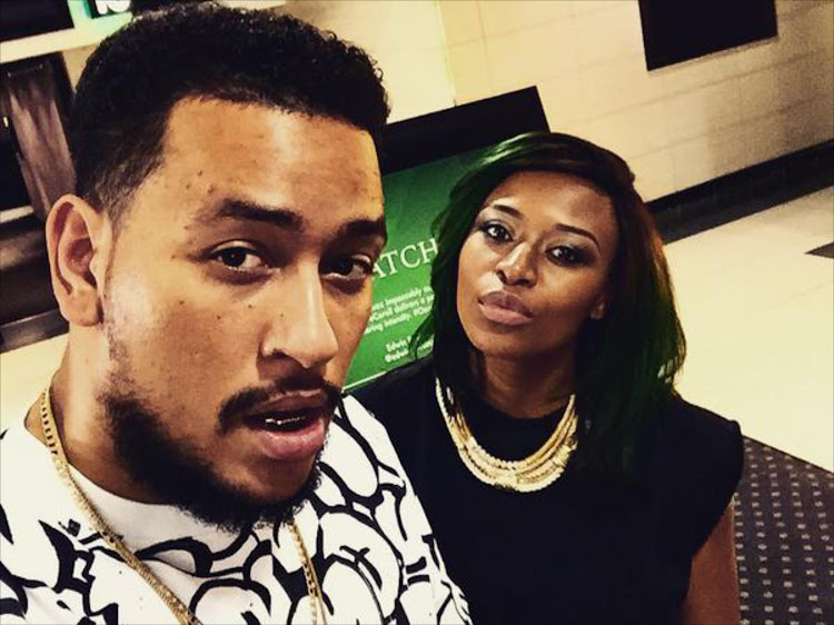 Rapper AKA and ex-girlfriend DJ Zinhle are rocking the co-parenting task.