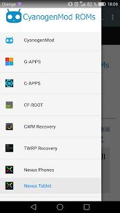 CyanogenMod ROMs - náhled