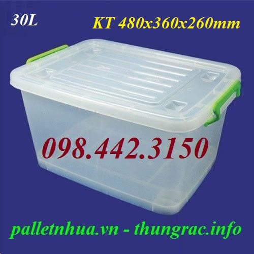 Thùng nhựa trong 30 lít