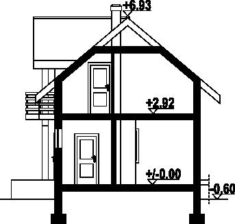 Gródek dws - Przekrój