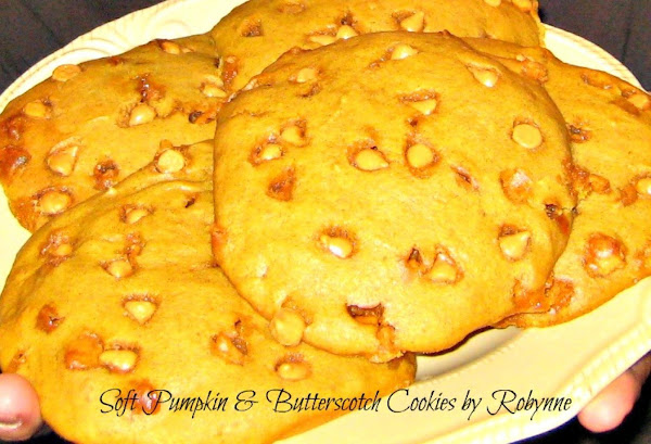 Soft Pumpkin & Butterscotch Cookies~robynne Recipe
