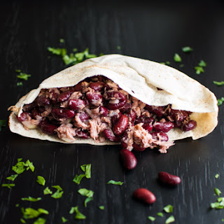 Tuna, Beans, and Onions (in a pita)