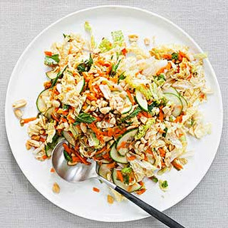 Sweet and Spicy Cabbage and Peanut Slaw Recipe