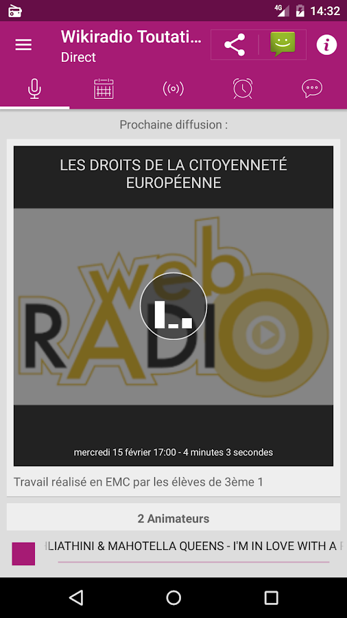Wikiradio Lycée- screenshot