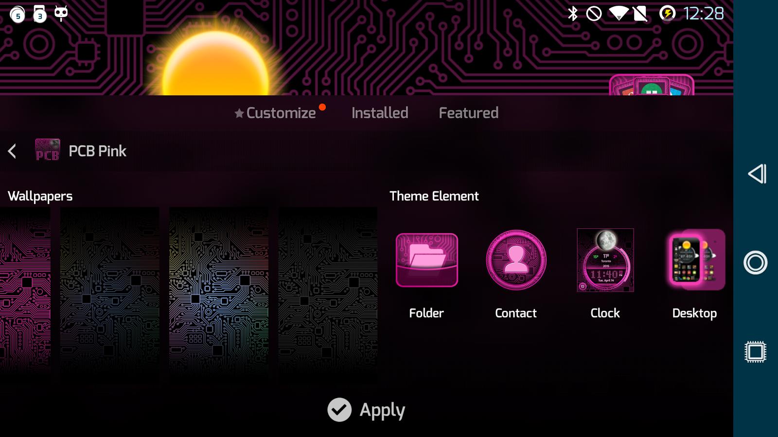 PCB Pink ⁞ TSF Shell 3 Theme - screenshot