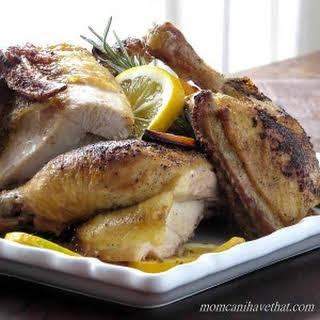 Roasting a Half Chicken.