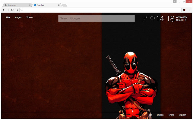 Deadpool Wallpapers Hd New Tab Themes