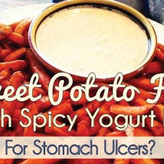 Sweet Potato Fries With Spicy Yogurt Dip
