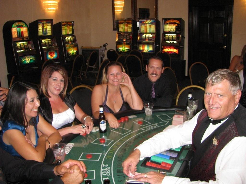 Photo: Slot Machines and Blackjack at the CASA fundraiser for Foster Children in Casa Grande - Lucky Linda's Casino Party Events