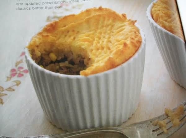 Baked In Ramekins Single Servings.  Could Also Serve With Gravy If So Desired, Which Is My Favorite.  Also Served With A Salad.