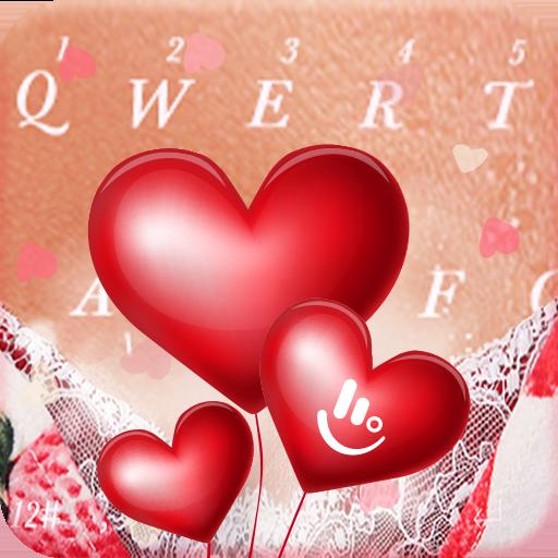Romantic Love Heart  Keyboard Theme Icon