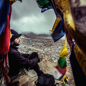 SOLITUDE | LADAKH by Inderjit Singh - Landscapes Mountains & Hills ( leh, inderanim, ladakh, landscapes, hues )