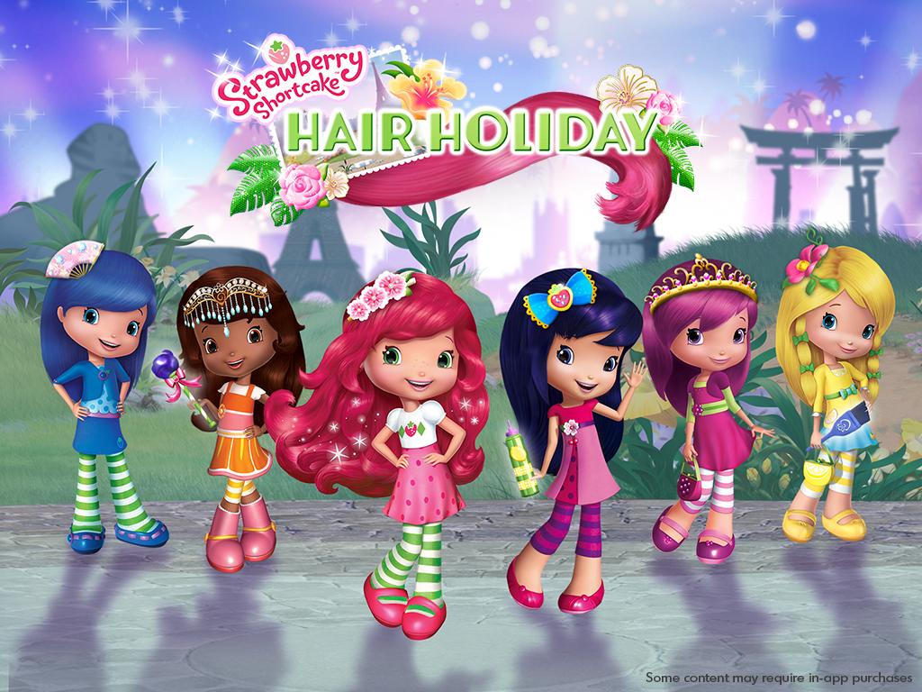 Strawberry Shortcake Holiday Hair- screenshot