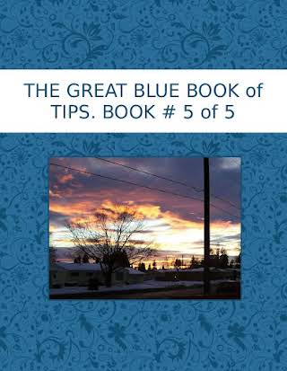 THE GREAT BLUE BOOK of TIPS.  BOOK # 5 of 5