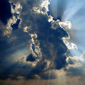 ray of hope by Ira Mdt - Landscapes Cloud Formations ( #clouds #sun #ray #bluesky #light,  )
