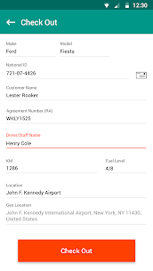 Vehicle Check-out/Check-in App 3