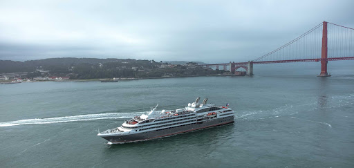 Ponant-Le-Boreal-San-Francisco.jpg - Sail beneath the Golden Gate Bridge on Ponant's Le Boreal.