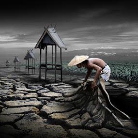 The Farmer by Harris Rinaldi - Digital Art People ( farmer barren soil )