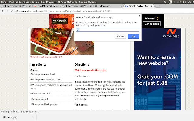 FoodNetwork.com Recipe Scaling