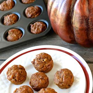 Mini Pumpkin Muffins with Greek Yogurt.