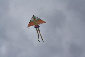 Photo: Robin and Pontus, kite flying day on the beach. They bought these while in China