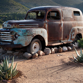 The End of the Journey by Martha van der Westhuizen - Transportation Automobiles ( vintage, stripped, rusted, ford, abandoned,  )