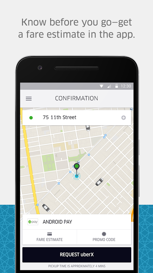 Screenshots of Uber for Android
