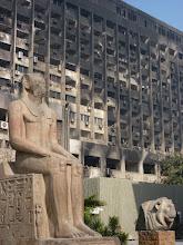 Photo: Kairo, Parteizentrale nach Anschlägen
