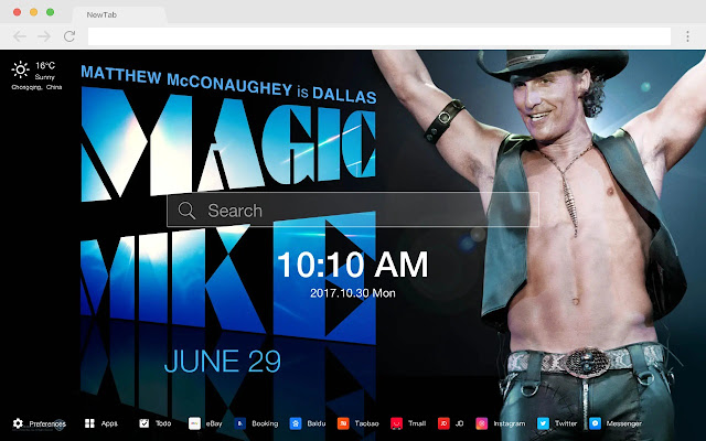Matthew McConaughey HD Star New Tabs Theme