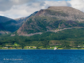 Photo: Car ferry from Stornes, North of Harstad in Nordland, to the island Grytøy