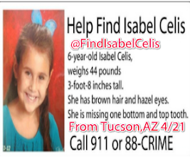 Photo: Find Isabel Celis Missing Since 4/21/2012 last seen on 4/20/2012 in her bed in Tucson,AZ