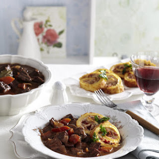 Beef Bourguignon with Parmesan Rolls