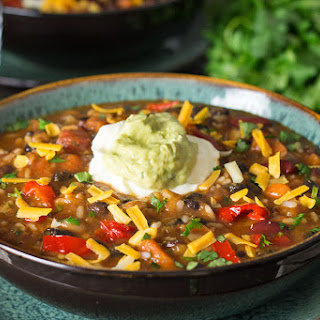 Mexican Rice and Bean Soup
