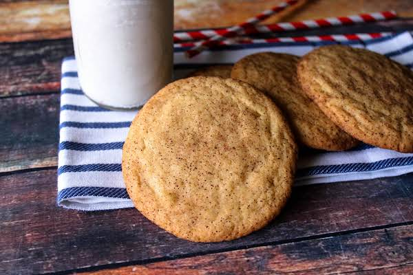 The Best Snickerdoodles With Milk.