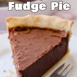 Chocolate Fudge Pie.