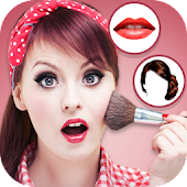 Women make up and hairstyle photo maker