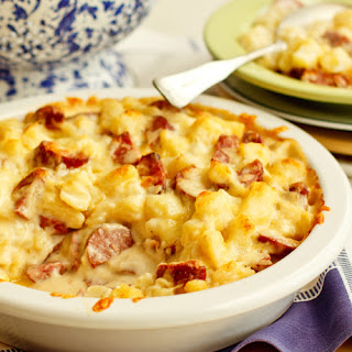 Cheesy Potato Sausage Bake