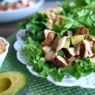 Southwest Chicken, Avocado and Quinoa Lettuce Wraps.