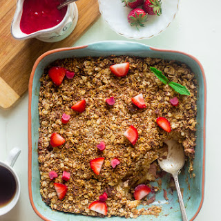 Strawberry Rhubarb French Toast Bake