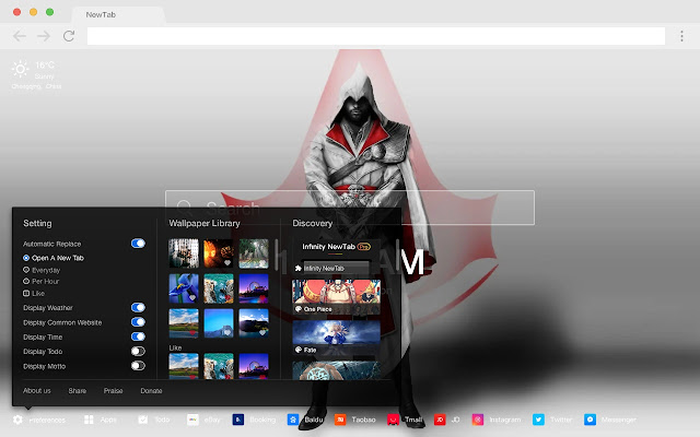 Assassin's Creed Popular HD New Tabs Theme