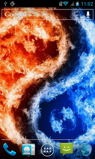 Fiery yin yang Live WP