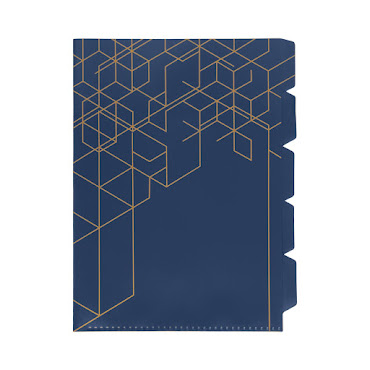Indexmapp 5 flikar PP A4 Navy Blue