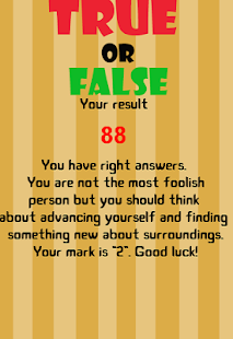 True or False - New version - náhled