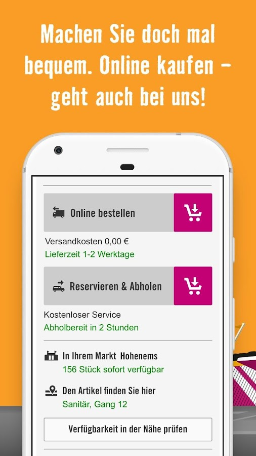 hornbach at android apps on google play. Black Bedroom Furniture Sets. Home Design Ideas